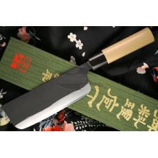 Japanilainen vihannesveitsi Nakiri Gihei Hamono Aogami 2 Iron clad GH-503 15cm