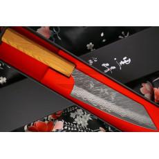 Japanisches Messer Yu Kurosaki Fujin VG10 Damascus Bunka Keyaki ZVD-165BU 16.5cm