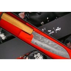 Santoku Japanese kitchen knife Yu Kurosaki Fujin VG10 Damascus ZVD-165SA 16.5cm