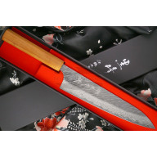 Gyuto Japanisches Messer Yu Kurosaki Fujin VG10 Damascus ZVD-210CH 21cm