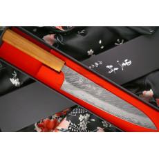 Japanilainen kokkiveitsi Gyuto Yu Kurosaki Fujin VG10 Damascus ZVD-210CH 21cm