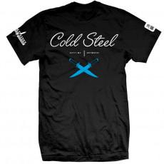 Футболка Cold Steel Cursive Black Tee CSTJ3