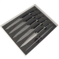 Steak knife Deejo Set of 6 Titanium 2YP001 11cm