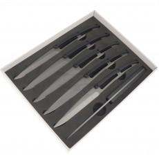 Steakmesser Deejo Titanium, Set von 6 Stück 2YP001 11cm