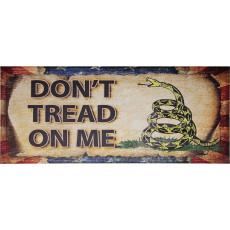 Letrero de madera contrachapada Miscellaneous: Don't Tread on Me MI237