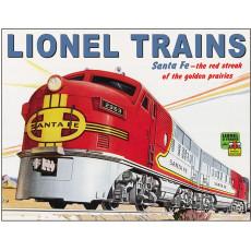 Blechschild Lionel Santa Fe TSN2284