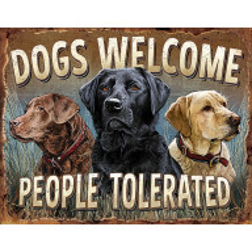 Tin sign Dogs Welcome TSN2279
