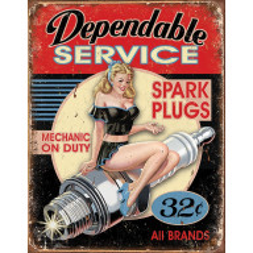 Tin sign Dependable Service TSN1991