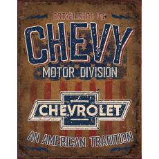 Tin sign Chevy American Tradition TSN2204