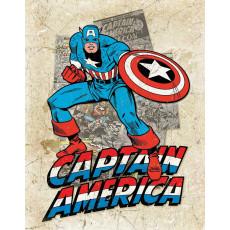 Tin sign Captain America Cover Splash TSN2206