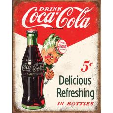 Tin sign Coke Boy 5 Cents TSN2168