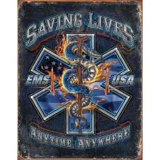 Tin sign EMS Saving Lives TSN2147