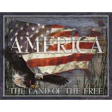 Tin sign America The Land of The Free TSN2159
