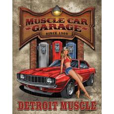 Blechschild Legends Detroit Muscle Car TSN1568