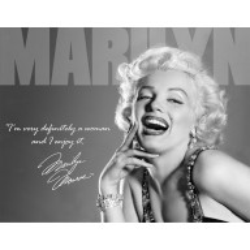 Blechschild Marilyn Monroe Definitely TSN1532