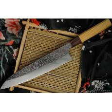 Японский кухонный нож Гьюто Yu Kurosaki SG2 Keyaki wood KR-307KE 21см