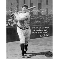 Tin sign Babe Ruth No Fear TSN1511