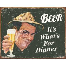 Blechschild Ephemera - Beer For Dinner TSN1424