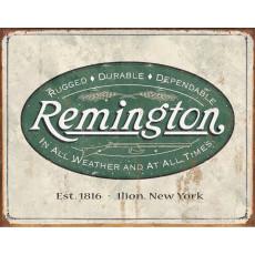 Cartel de chapa Remington Weathered Logo TSN1413