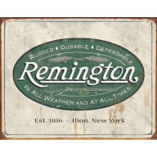 Tin sign Remington Weathered Logo TSN1413