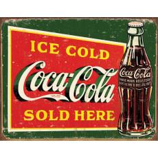 Cartel de chapa Coke Ice Cold Green TSN1393