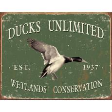 Cartel de chapa Ducks Unlimited -Since 1937 TSN1388