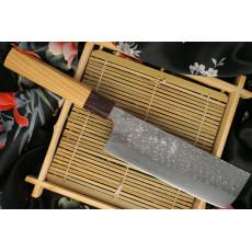 Cuchillo Japones Nakiri Yu Kurosaki SG2 Keyaki wood KR-306KE 16.5cm