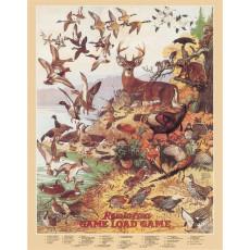 Cartel de chapa Remington Game Load Game TSN1139