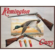 Cartel de chapa Remington Shotguns and Ducks TSN1002