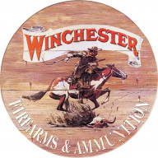 Cartel de chapa Winchester Express Round TSN0975