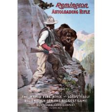 Cartel de chapa Remington Right of Way TSN0927