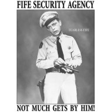 Cartel de chapa Fife Security Agency TSN0809
