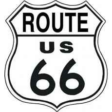 Жестяная табличка Route 66 Shield TSN0679