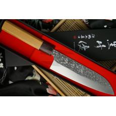 Японский кухонный нож Сантоку Yu Kurosaki SG2 Keyaki wood KR-305KE 16.5см