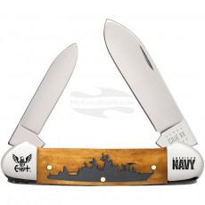 Folding knife Case Navy Canoe Antique Bone 17720 9cm