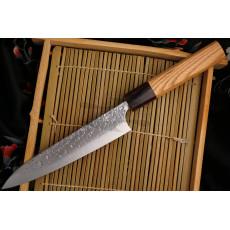 Japanilainen Yu Kurosaki SG2 Keyaki wood Petty KR-302KE 15cm