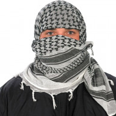 Camcon Arabic headscarf Shemagh White Black PF61010