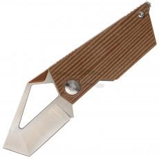 Folding knife Kizer Cutlery Cyber Blade Micarta Brown V2563A2 5.4cm