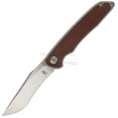 Navaja Kizer Cutlery Matanzas Micarta Titanium Brown Gray Ki4510A4 8.9cm