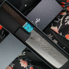 Японский кухонный нож Накири Yu Kurosaki Fujin R2 ZRF-165NA 16.5см