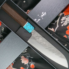 Японский кухонный нож Сантоку Yu Kurosaki Fujin R2 ZRF-165SA 16.5см