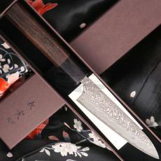 Japanisches Messer Yoshimi Kato Petty Nickel Damascus VG10 D-1900 12cm