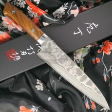 Cuchillo Japones Gyuto Takeshi Saji Iron Wood Nickel Damascus HA-4108 21cm