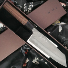 Japanese kitchen knife Yoshimi Kato Bunka SG2 D-1610 17cm