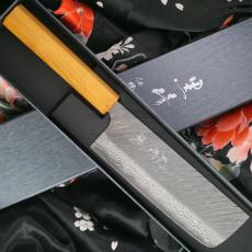Nakiri Japanese kitchen knife Yu Kurosaki Fujin VG10 Damascus ZVD-165NA 16.5cm