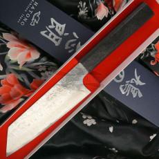 Japanisches Messer Kenshiro Hatono Bunka VG10 Nickel Damascus, paper KH-P1 16.5cm