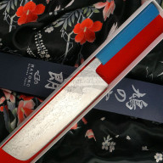 Nakiri Japanisches Messer Kenshiro Hatono VG10 Nickel Damascus, paper KH-P8 20cm