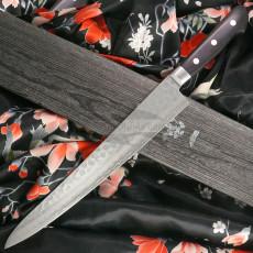 Sujihiki Japanese kitchen knife Ittetsu Black Pakka wood IWY-9008 27cm