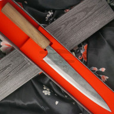 Sujihiki Japanisches Messer Ittetsu Shirogami IW-11818 21cm