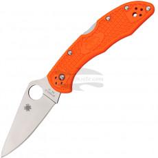 Складной нож Spyderco Delica Flat Ground, оранжевый C11FPOR 7.4см